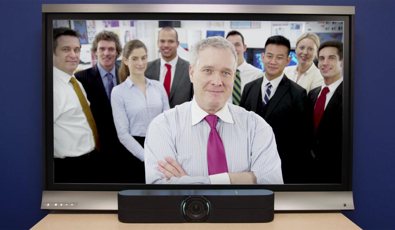 cámara con audio integrado para videoconferencias